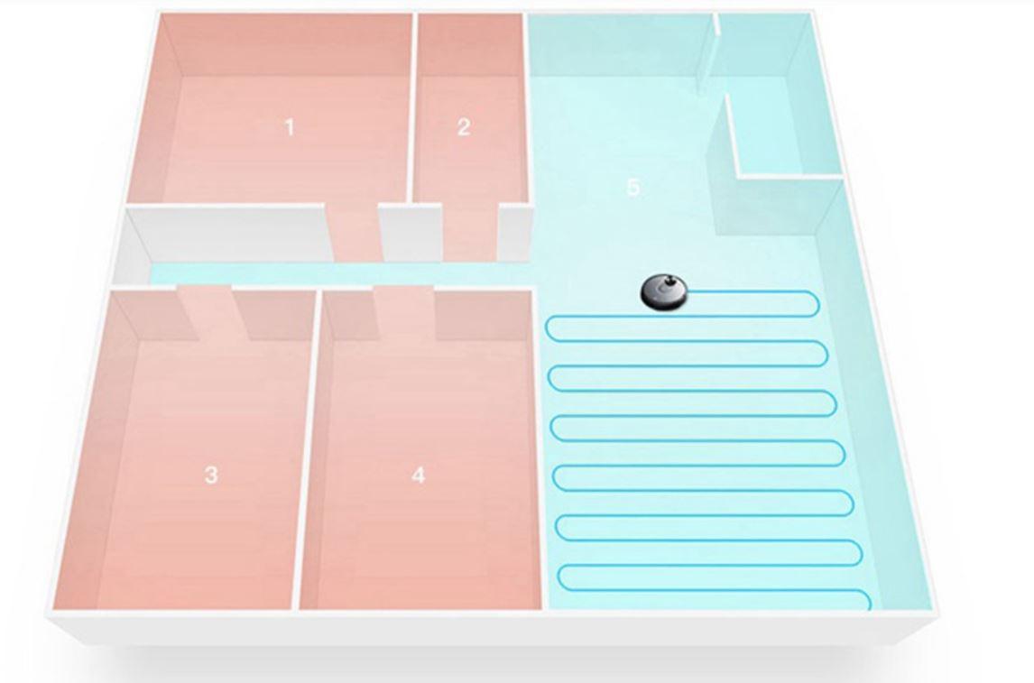 Robot odkurzający Xiaomi Viomi V2 PRO - podział mieszkania na strefy i pokoje