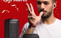 Wyprzedaż głośników i słuchawek Bluetooth na Geekbuying - Luis Suarez promuje Tronsmart