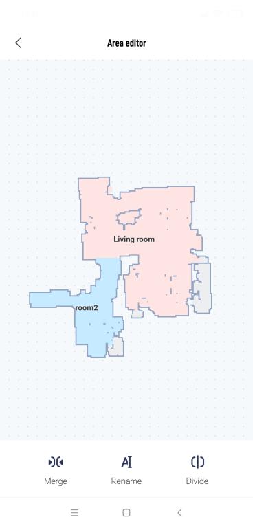 Xiaomi Viomi V2 PRO - recenzja robota odkurzającego - podział mieszkania na pokoje