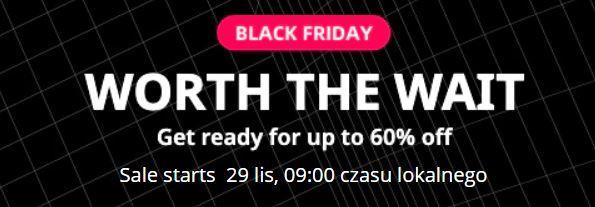 Black Friday na Aliexpress - kody rabatowe i promocje - oczekiwanie na Black Friday