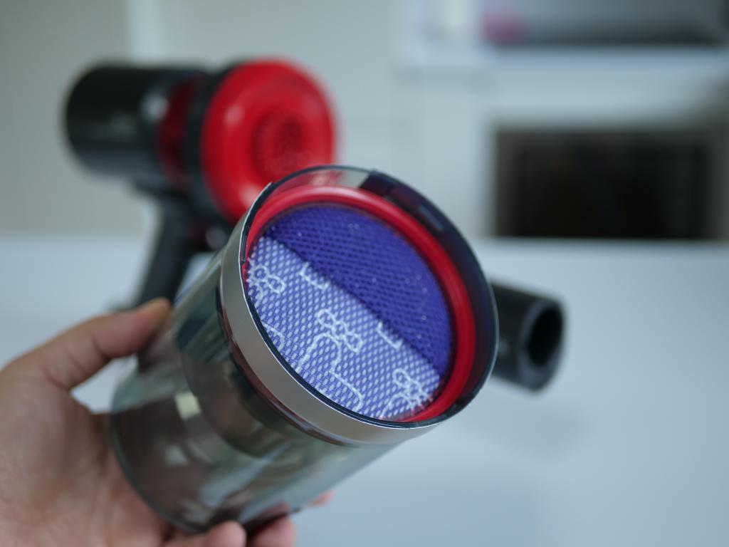 DIBEA F20 Max - recenzja bezprzewodowego odkurzacza o wielkiej mocy - filtr HEPA