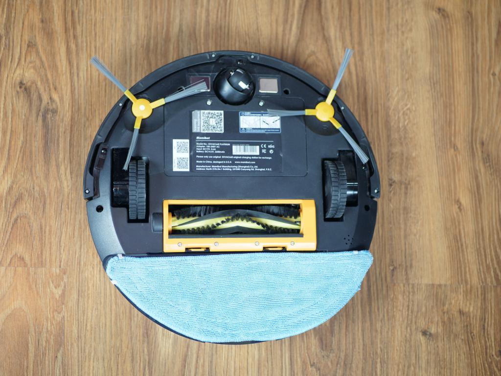 Mamibot Grey - recenzja robota sprzątającego 2 w 1 - założony mop