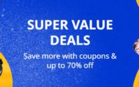 Pomysły na 2020 rok - logo promocji Aliexpress - oferty Super Value Deals z kuponami