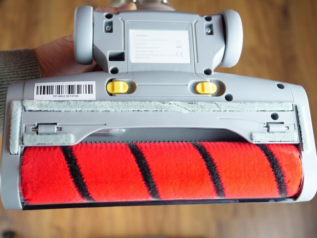Xiaomi Jimmy JV71 - recenzja odkurzacza pionowego z podwójnym pojemnikiem - wałek turboszczotki