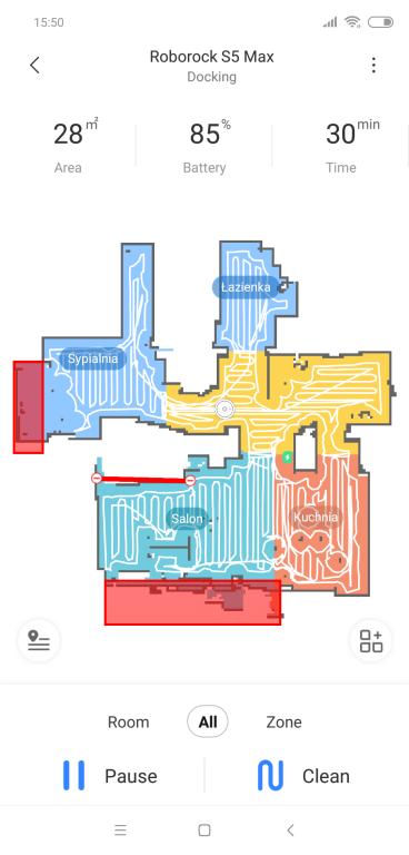 Roborock S5 MAX - całe mieszkanie odkurzone w aplikacji
