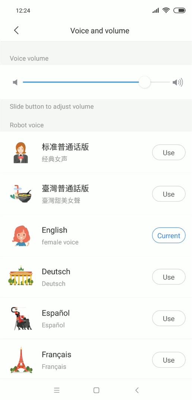 Roborock S5 Max - recenzja - aplikacja Xiaomi Home - ustawienie języka