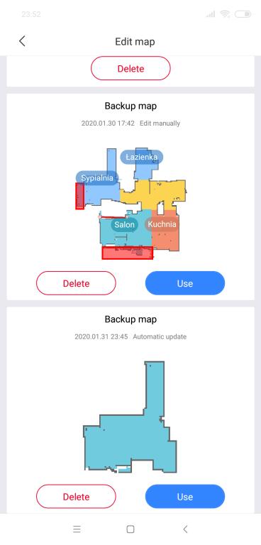 Roborock S5 Max - wiele map w aplikacji
