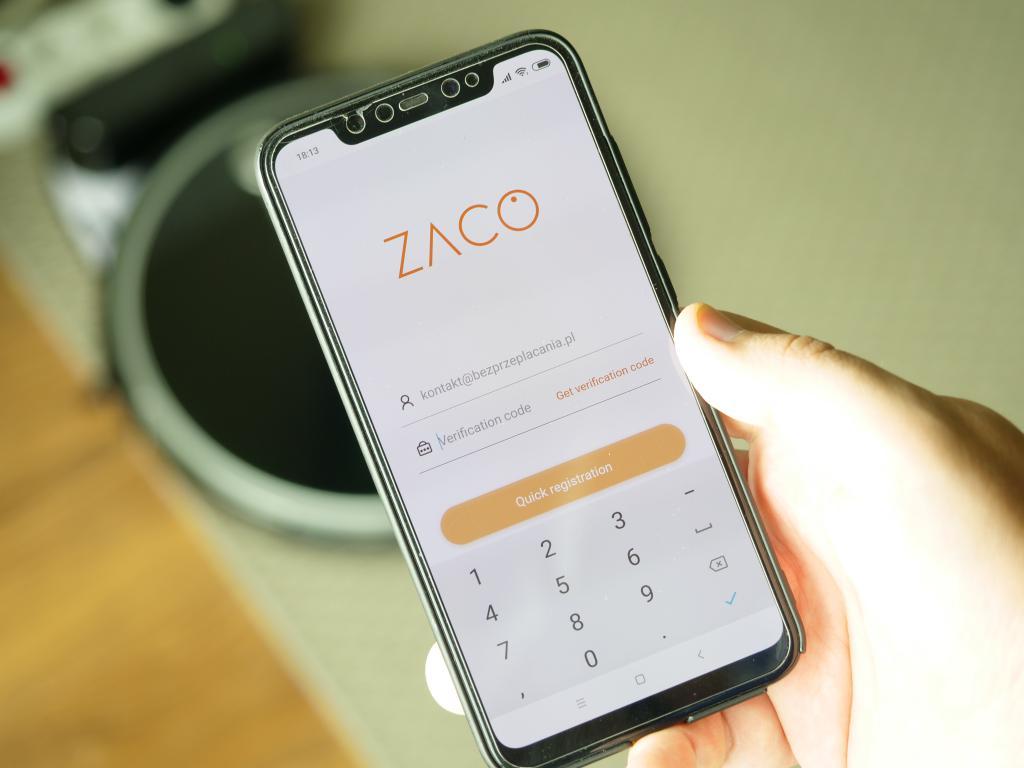 Zaco A8S - recenzja robota sprzątającego - instalacja aplikacji Zaco Robot