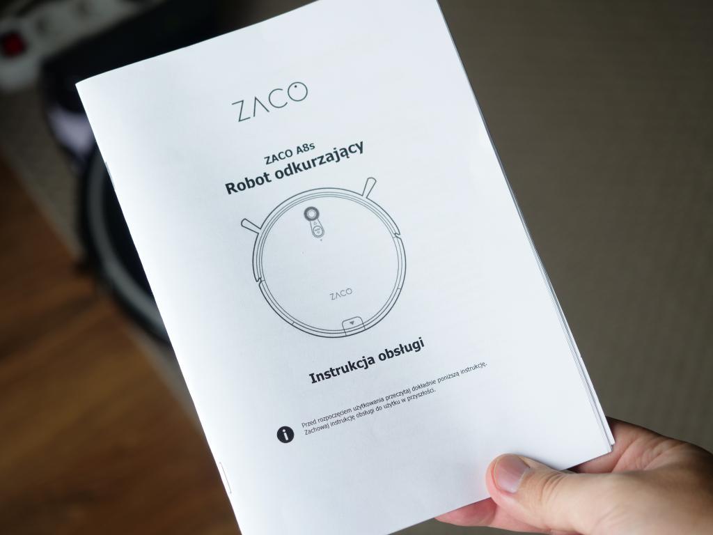 Zaco A8S - recenzja robota sprzątającego - polska instrukcja obsługi