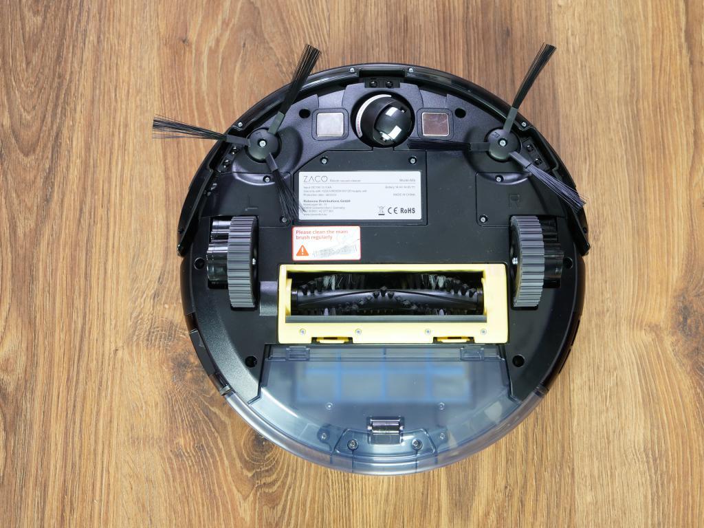 Zaco A8S - recenzja robota sprzątającego - spód robota