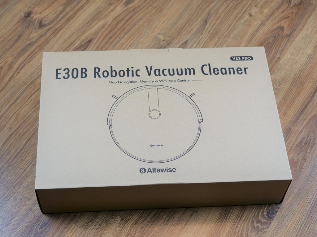 Alfawise V8S PRO - najlepszy robot sprzątający do 700 zł [recenzja] - pudełko