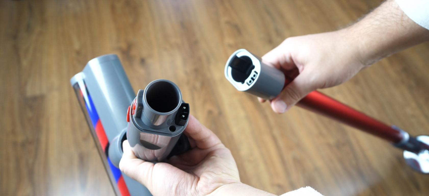 Jimmy JV65 - recenzja odkurzacza pionowego - montaż rury