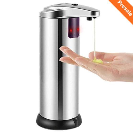 Maseczki antywirusowe i środki czystości z Geekbuying - dyspenser mydła z czujnikiem ruchu