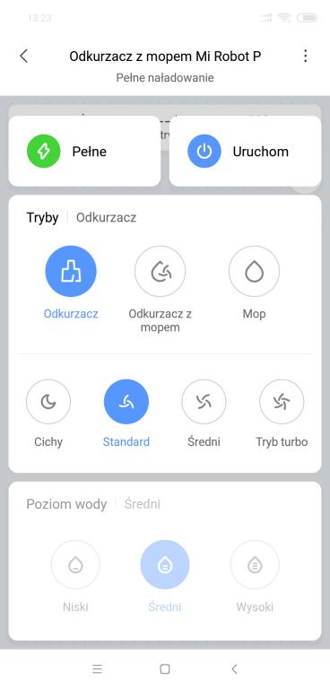 Xiaomi Mi Robot P (STYTJ02YM) - recenzja odkurzająco-mopującego robota od Xiaomi - regulacja mocy