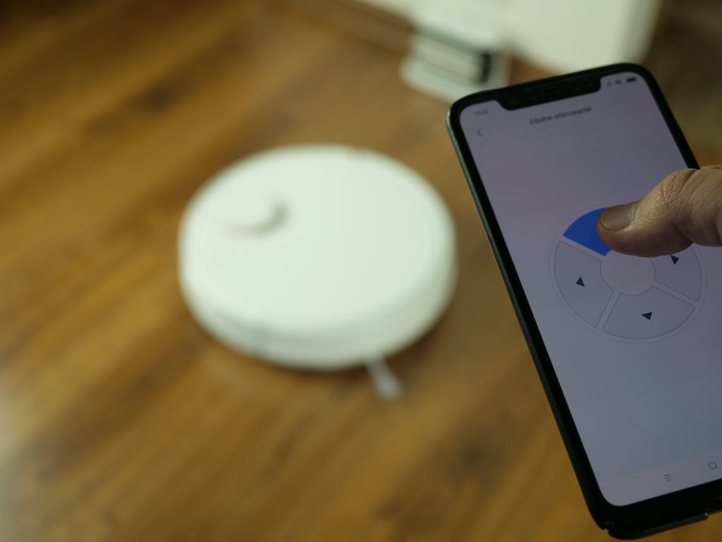 Xiaomi Mi Robot P (STYTJ02YM) - recenzja odkurzająco-mopującego robota od Xiaomi - sterowanie strzałkami