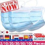 Maseczki ochronne z Aliexpress i innych chińskich sklepów - dostałem pierwsze paczki! - szybka dostawa - maski przeciwwirusowe COVID-19
