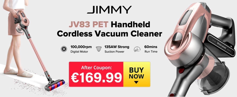 Jimmy JV83 PET - premiera nowej wersji rewelacyjnego odkurzacza pionowego - promocja