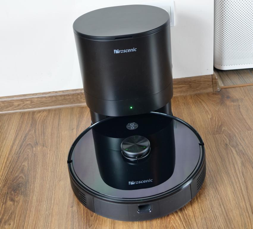 Proscenic M7 PRO - robot sprzątający ze stacją do automatycznego opróżniania pojemnika na kurz - Stacja na kurz z robotem