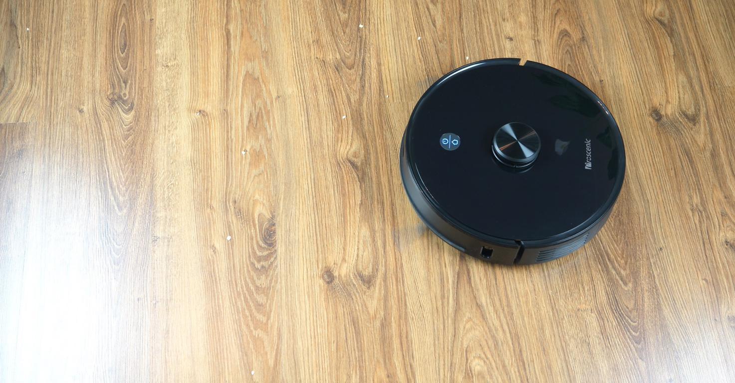 Proscenic M7 PRO - robot sprzątający ze stacją do automatycznego opróżniania pojemnika na kurz - odkurzanie płatków owsianych