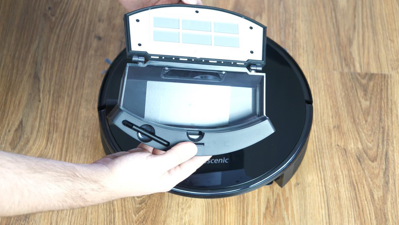 Proscenic M7 PRO - robot sprzątający ze stacją do automatycznego opróżniania pojemnika na kurz - pojemnik na kurz