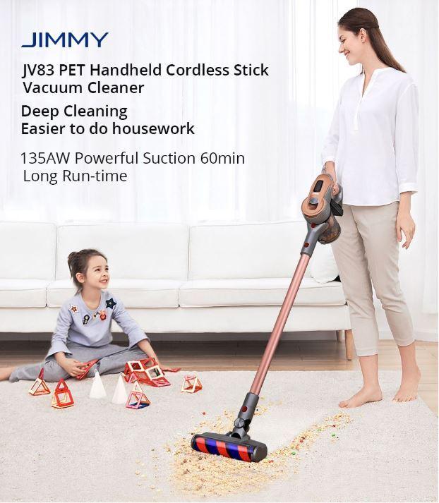 Jimmy JV83 PET - premiera nowej wersji rewelacyjnego odkurzacza pionowego