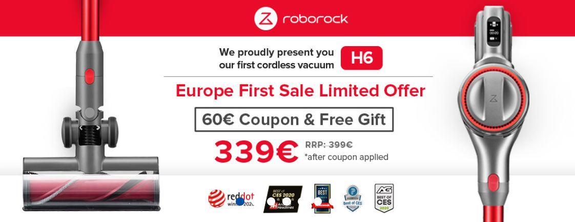 Premiera Roborocka H6 - kod rabatowy do pobrania - promocja z gratisem
