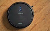 Ecovacs Deebot N79S - recenzja taniego robota odkurzającego - na panelach