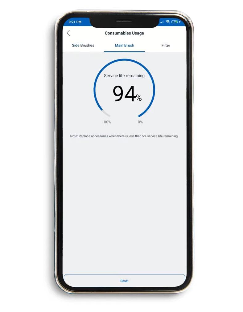 Ecovacs Deebot N79S - recenzja taniego robota odkurzającego - statystyki w aplikacji