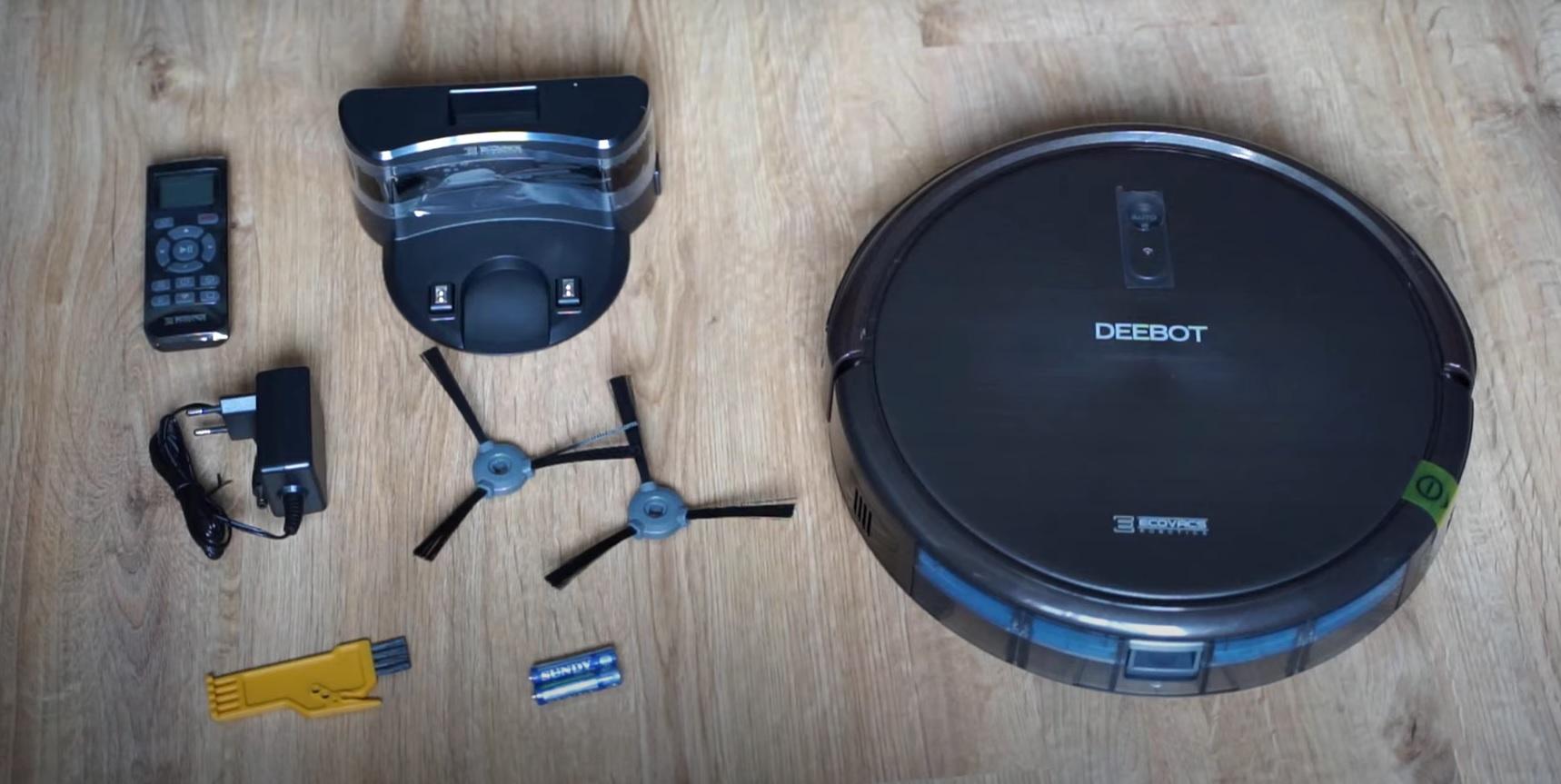 Ecovacs Deebot N79S - recenzja taniego robota odkurzającego - zestaw