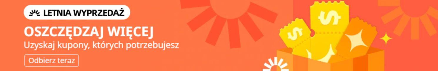 Letnia wyprzedaż na Aliexpress - kody rabatowe do pobrania