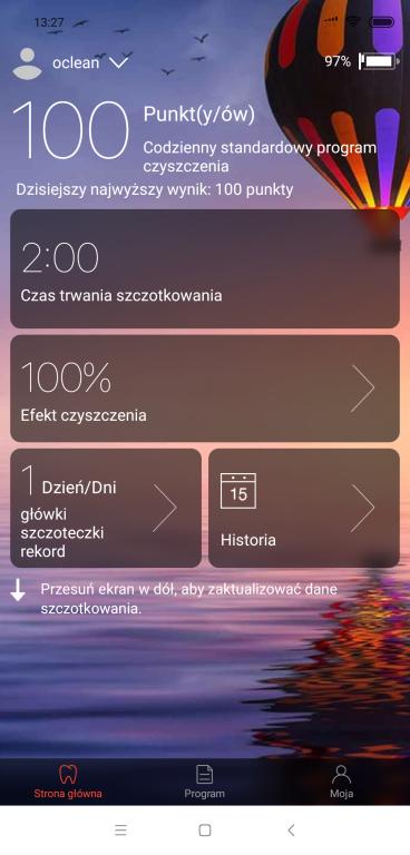 Oclean X PRO - recenzja nowej wersji inteligentnej szczoteczki sonicznej - aplikacja Oclean na smartfony