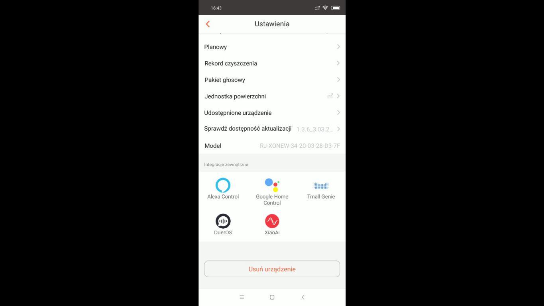 RoboJet X-One White - recenzja robota sprzątającego - łączenie z Google Home i Alexa