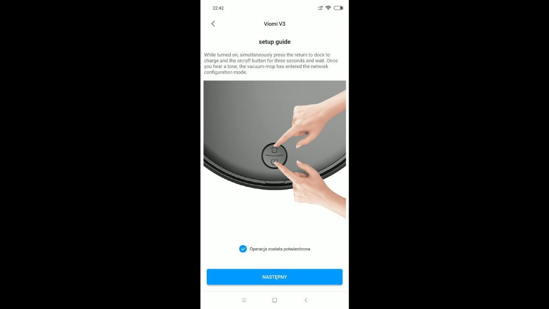 Xiaomi Viomi V3 - recenzja robota odkurzającego z mopowaniem - parowanie robota Viomi V3 z aplikacją Xiaomi Home
