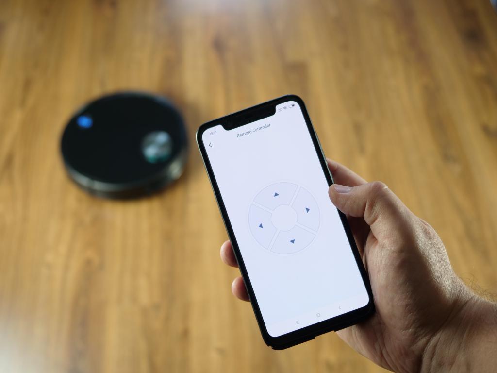 Xiaomi Viomi V3 - recenzja robota odkurzającego z mopowaniem - sterowanie strzałkami