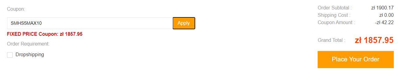 Nowy kod rabatowy na Roborocka S5 Max - miejsce na kod