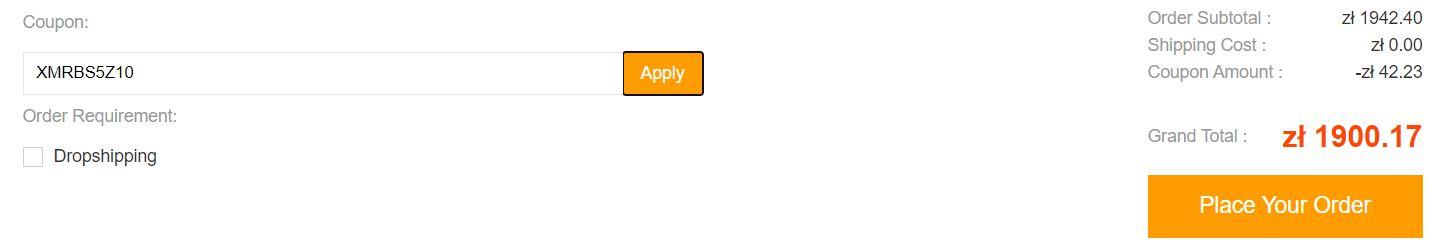 Promocja odkurzaczy w geekbuying.com - cena Roborocka S5 Max z kodem rabatowym