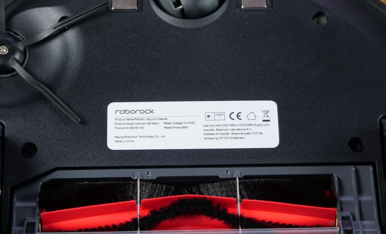 Roborock S6 MaxV - recenzja robota sprzątającego - tabliczka znamionowa - moc silnika