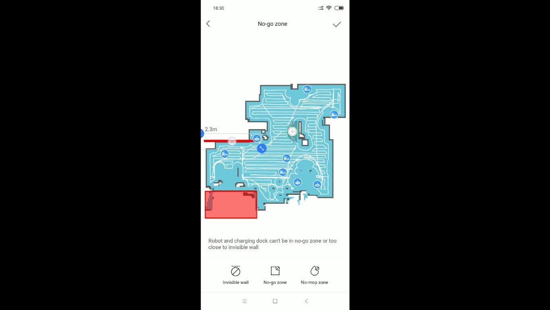 Roborock S6 MaxV - recenzja robota sprzątającego - tworzenie no-go zone