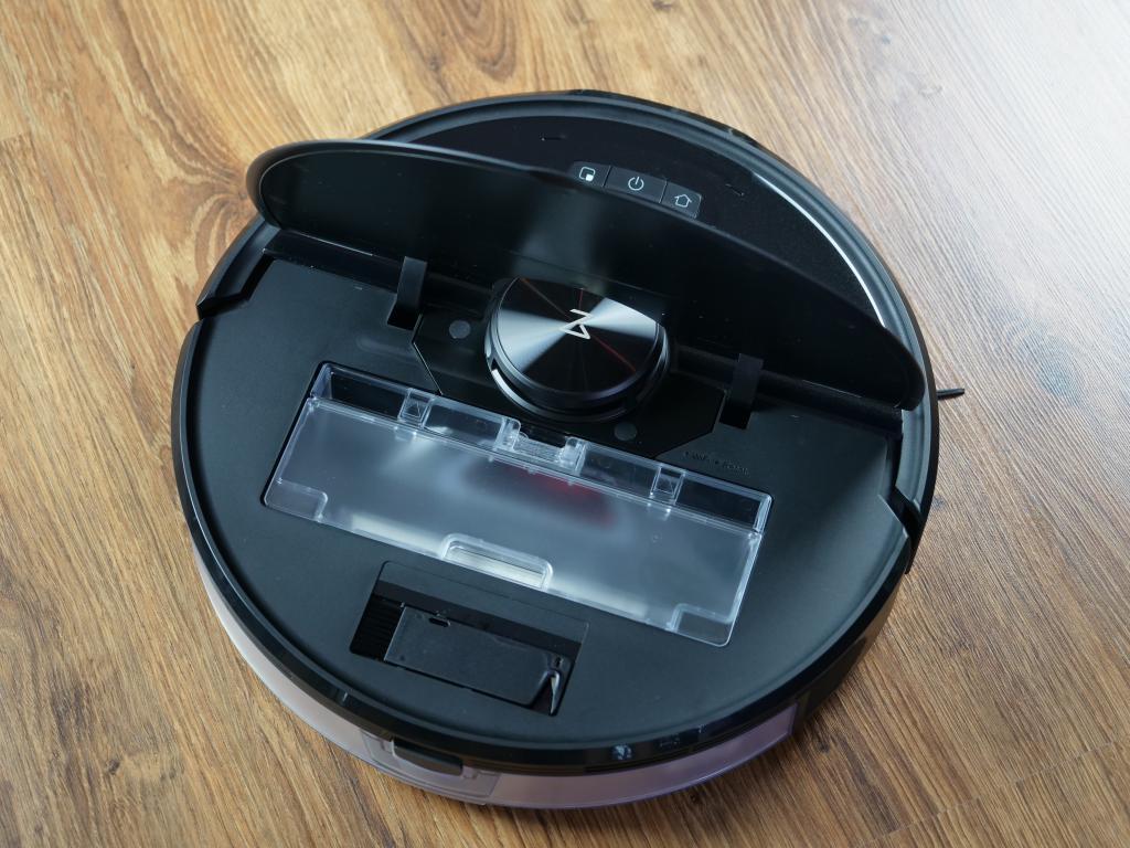 Roborock S6 maxV - recenzja robota sprzątającego z inteligentnym rozpoznawaniem przeszkód - pojemnik na kurz