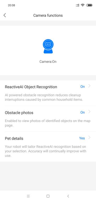 Roborock S6 maxV - recenzja robota sprzątającego z inteligentnym rozpoznawaniem przeszkód - włączenie robienia zdjęć