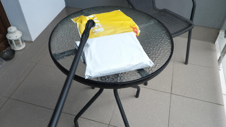 Numatic George GVE370 - recenzja - dezynfekcja paczek