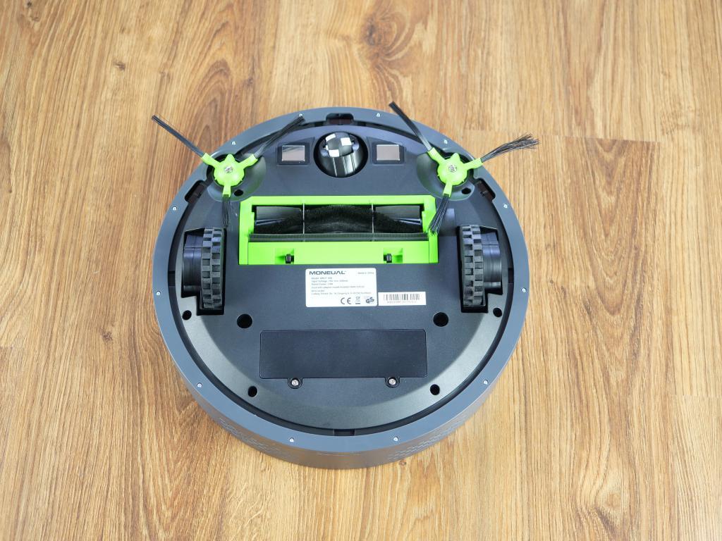 Moneual MBOT 500 - recenzja taniego robota odkurzającego z mopowaniem - spód robota
