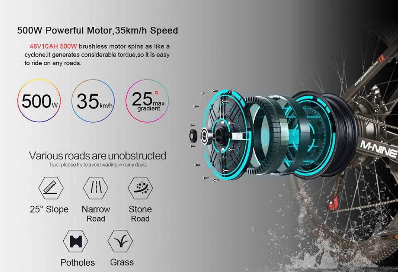 Rower elektryczny Samebike LO26 - napęd i silnik