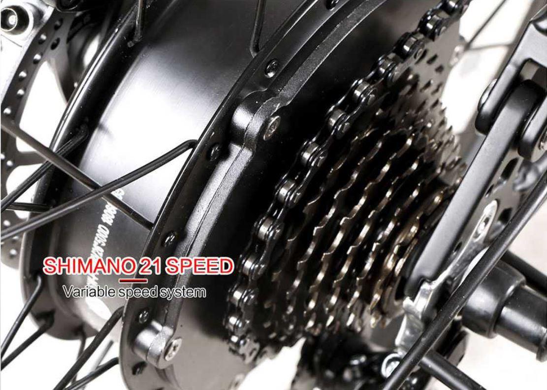 Rower elektryczny Samebike LO26 - przerzutki Shimano