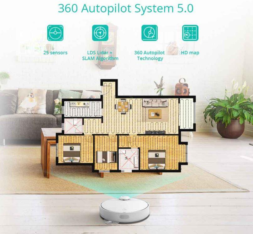 robot sprzątający 360 S9 - nawigacja