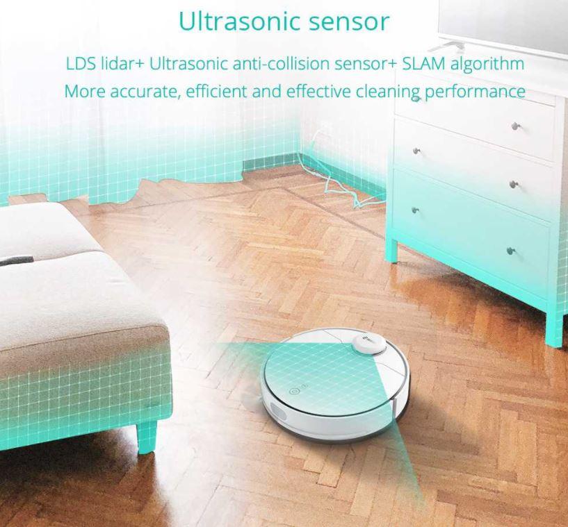robot sprzątający 360 S9 - ultradźwiękowy sensor