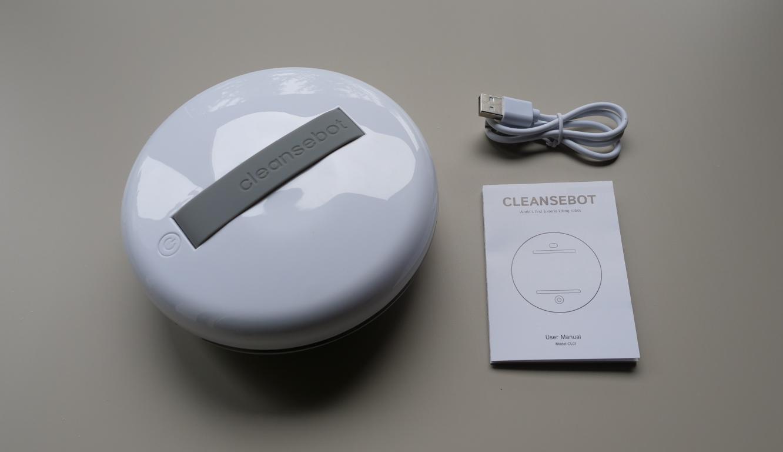 CleanseBot - robot bakteriobójczy - zestaw