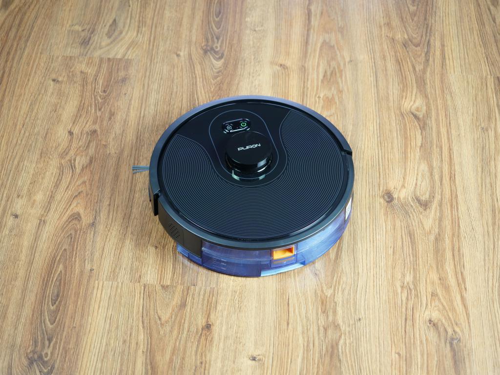 PURON PR10 - recenzja robota sprzątającego z lampą UV - mopowanie