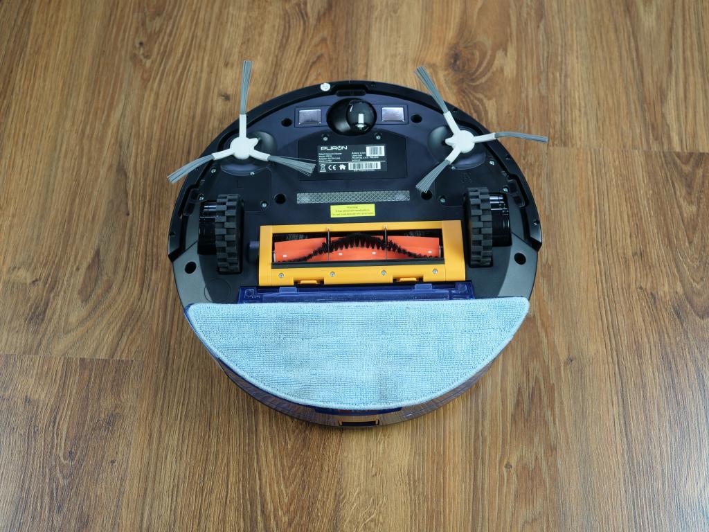 PURON PR10 - recenzja robota sprzątającego z lampą UV - robot z pojemnikiem do mopowania