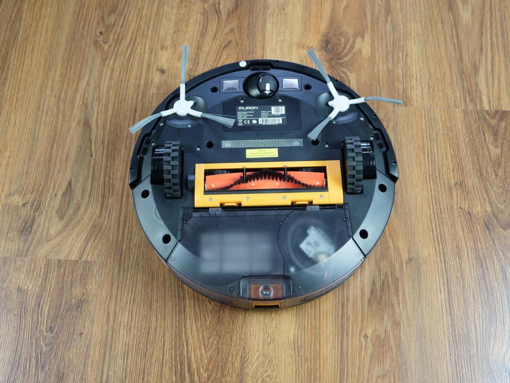 PURON PR10 - recenzja robota sprzątającego z lampą UV - spód robota